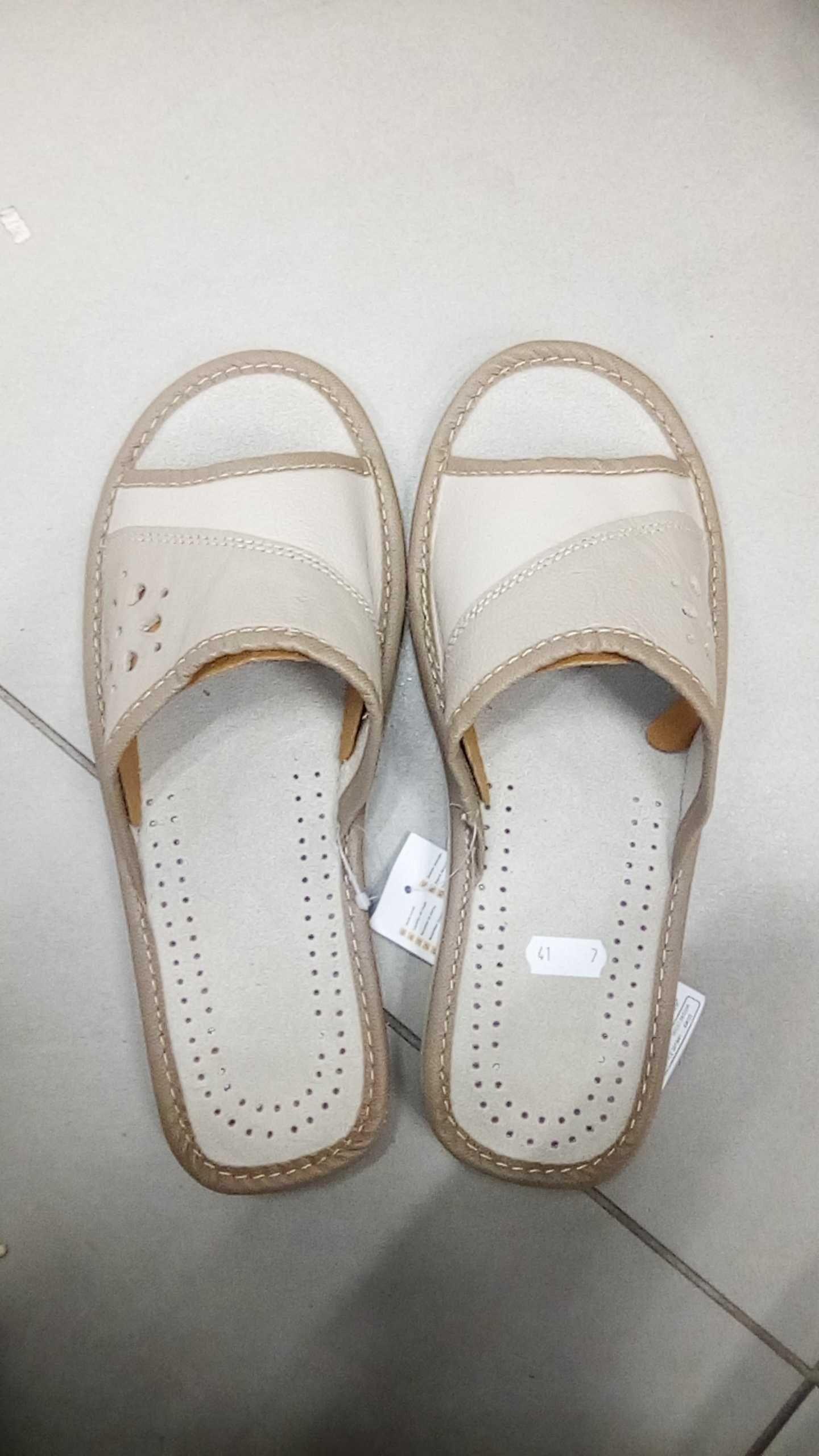Дамски отворени чехли естествена кожа номера 36-41