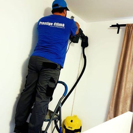 Montaj aer conditionat cu aspirator , pompa de vid si garantie !