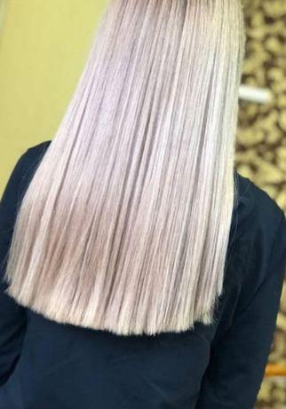 Акция!Наращивание волос, ботокс, кератин, коррекция нарощеных волос