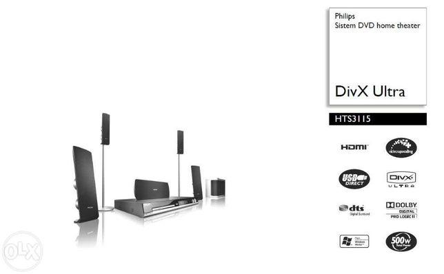 Philips Sistem DVD home theater HTS3115 DivX Ultra