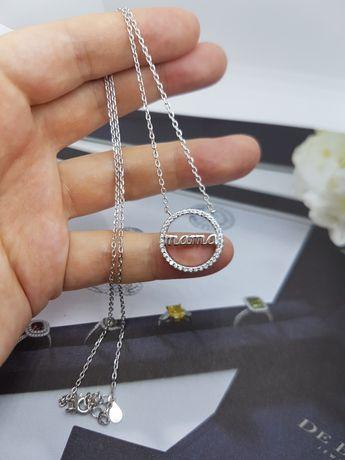Серебряная цепочка с кулоном подвеска серебро