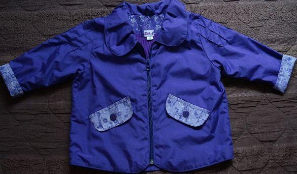 Лилаво шлиферно яке за момиченца