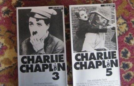 2 видео касети със филми на Чарли Чаплин