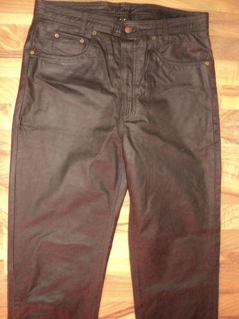 pantaloni de barbat, din piele,model clasic cu nasturi,marime 52