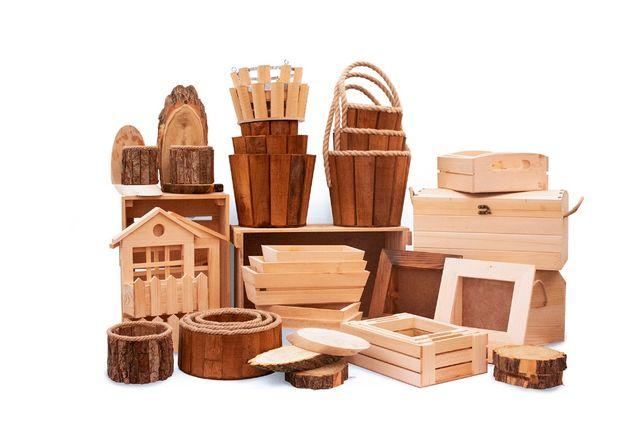 Ghivece, suport si accesorii din lemn pentru aranjamente florale