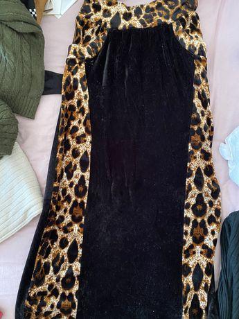 Велюровая юбка теплая