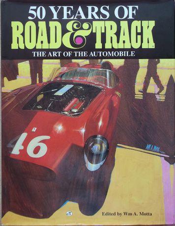 Книга автомобили списание 50 годишнина Road & Track автомобили коли