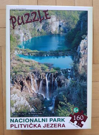 """Пъзел """"Национален парк Плитвички езера"""" 160 части - труден"""