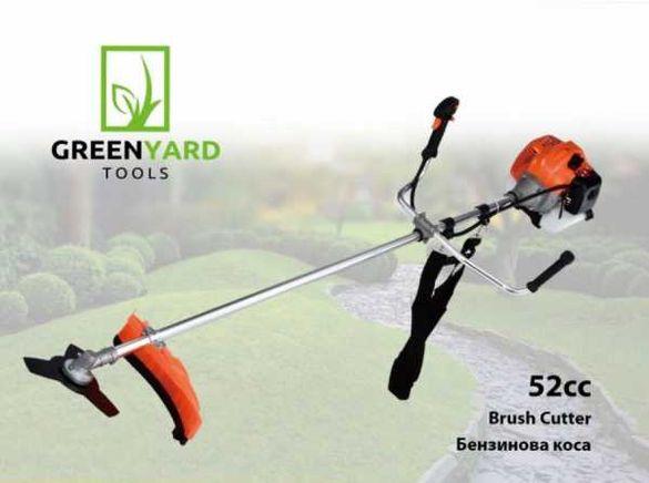 Моторна коса - GREENYARD - 52 куб.см - тример за трева - косачка трева
