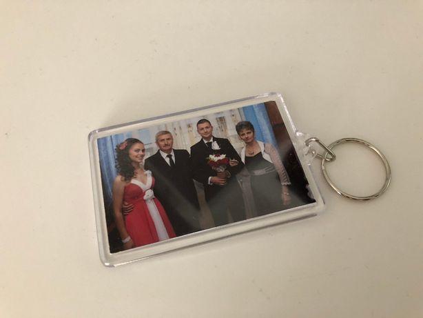 Breloc plastic cu insertie foto personalizat | Cadouri personalizate