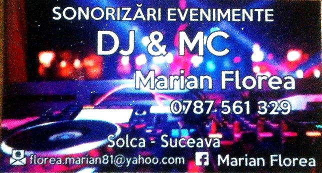 DJ & MC, Sonorizare evenimete