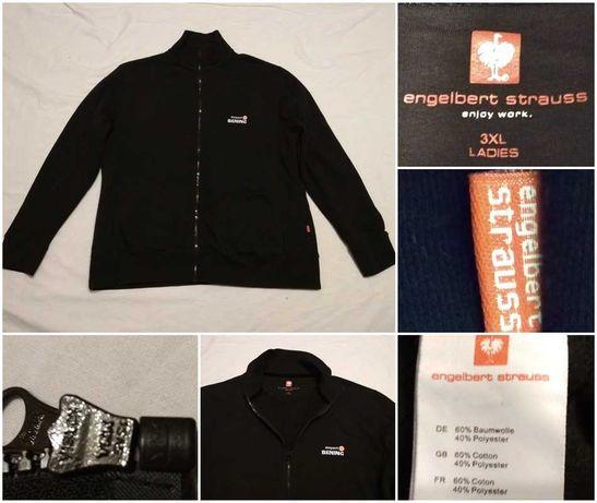 Bluza bumbac ENGELBERT STRAUSS L / XL negru barbati calduros