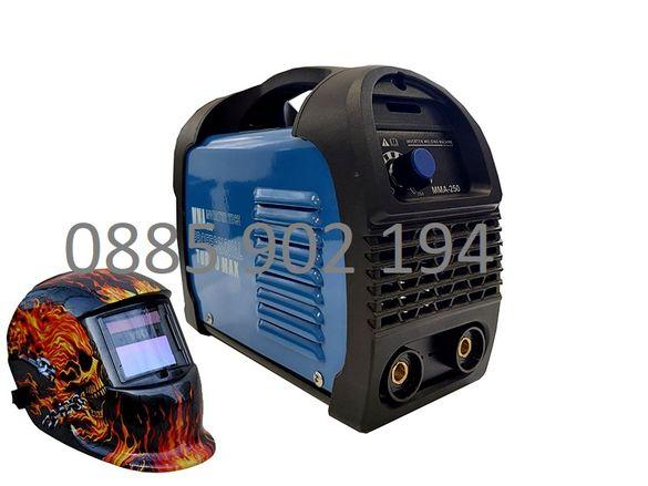 250А МАХ Мини 2,5 кг Електрожен инверторен 4м кабели с дисплей