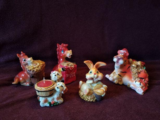 Продам сувениры. Фигурка статуэтка лошадь, заяц, собачки, тигр