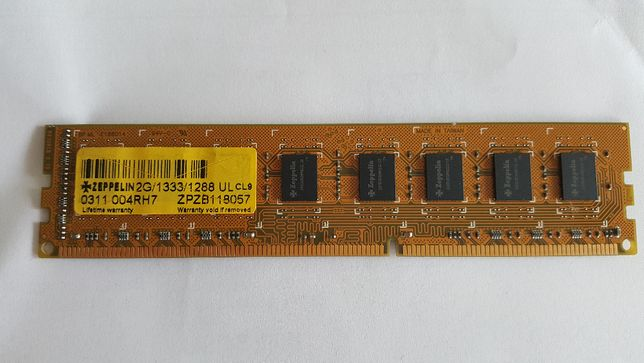 Memorie Zeppelin 2GB DIMM, DDR3, 1333MHz