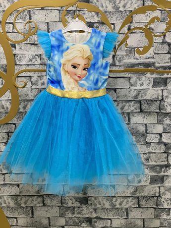 Рокля Елза Замръзналото кралство - къс ръкав - Elsa Frozen