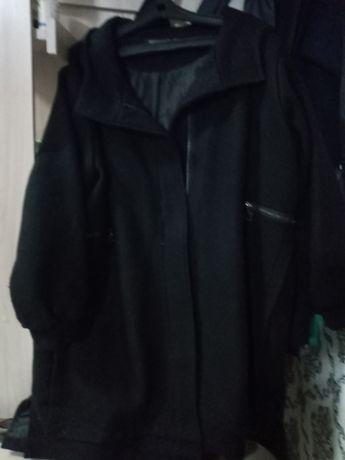 Пальто драп  черный