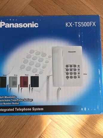 Продавам стационарен телефон Panasonic KX-TS500 - бял.