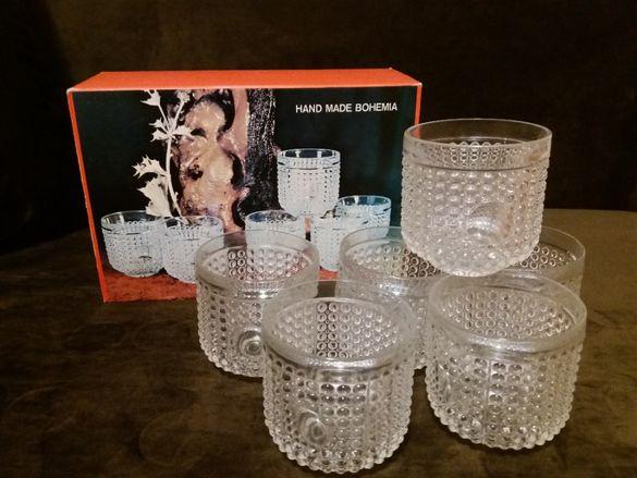 Четири сервиза чаши за уиски - Джим Бийм, Бохемия, Роял Дълтон и др.