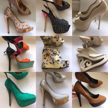 Страхотни блестящи,цветни, вградена платформа,елегантни,високи обувки
