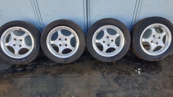 Джанти 4х100 с гуми 185 55 14 семперит