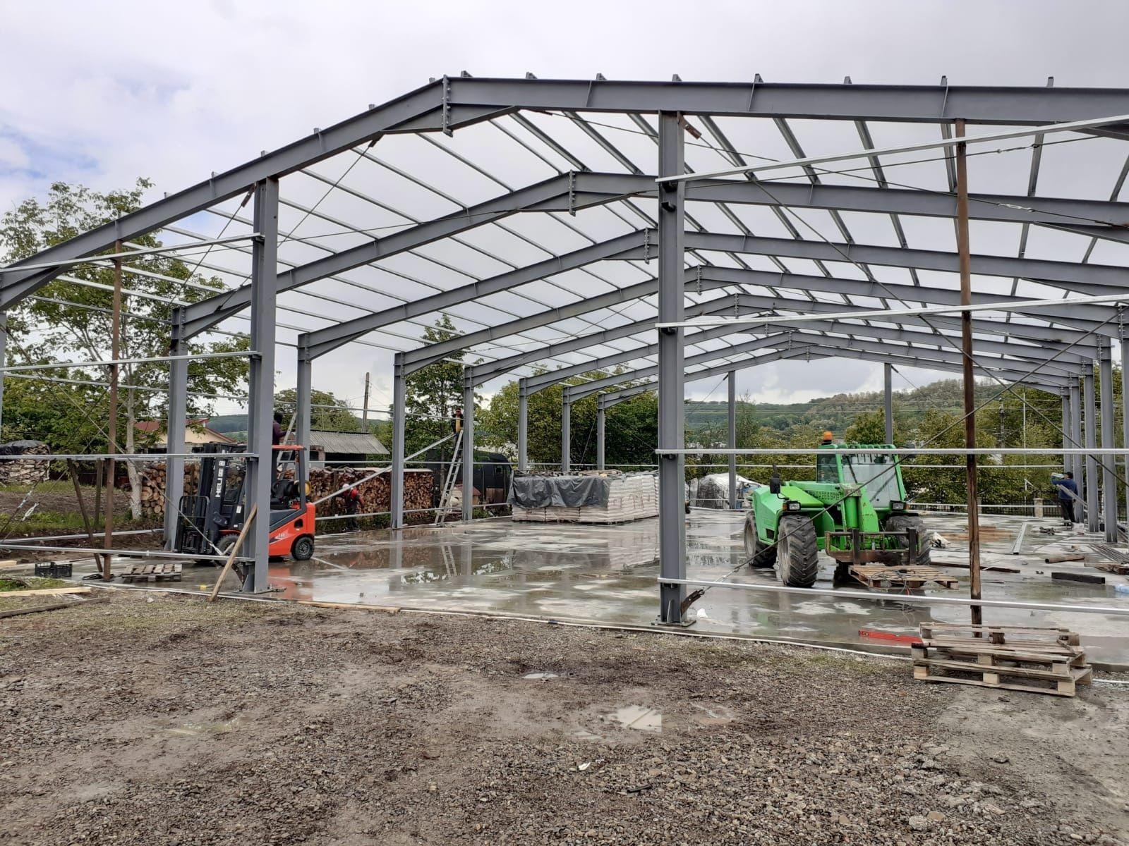 Hale metalice 1. Structura metalica completă deschidere 10m - l