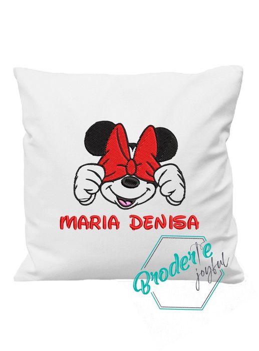 Pernuță brodată - Minnie Mouse Panciu - imagine 1