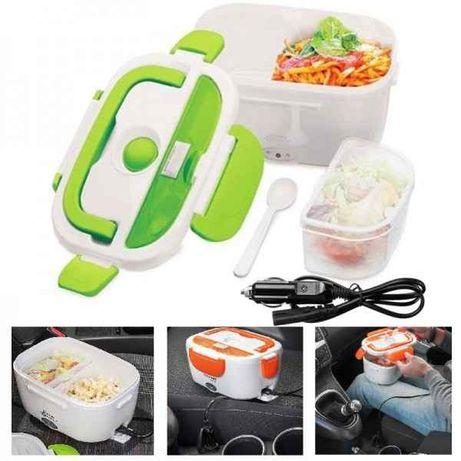 Термо кутия за затопляне на храна в контакт или автомобил 220/12V