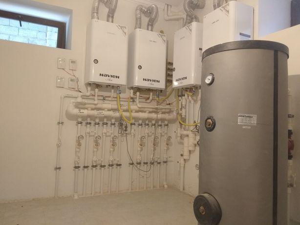 Монтаж автономного отопления, водопровода и канализации.
