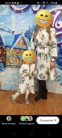 Платье Мама и дочка, Фэмили лук