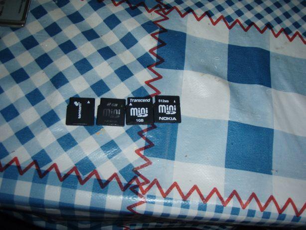 carduri miniSD de 512 Mb 1 Gb 2Gb