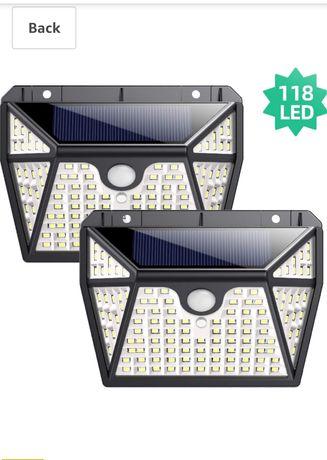 Lampi solare 118 led cu senzor miscare rezistente la îngheț waterproof