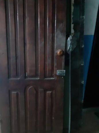 Дверь железная входная и дверь деревянная