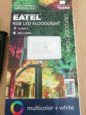 Градинско осветление/коледно осветление. RGB 10W 800LM. Прожектор