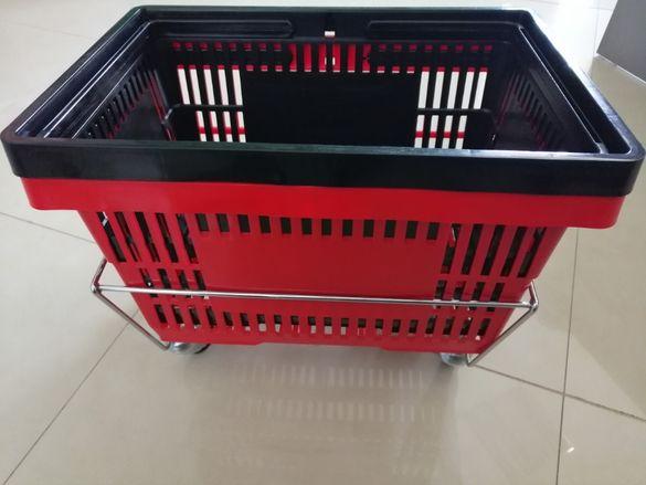 Пластмасова кошница 28л с две дръжки