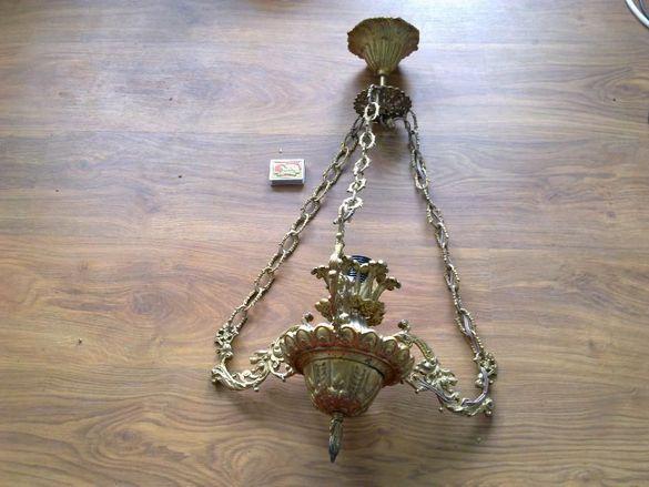 Уникален стар бронзов полюлей бароков стил