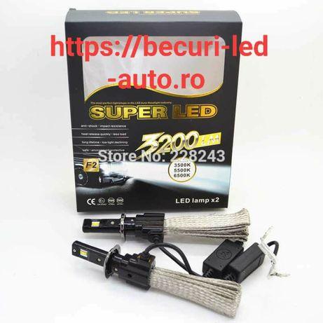Super Led Cree 60Watti/6400Lumeni/6500k(H4,H7)