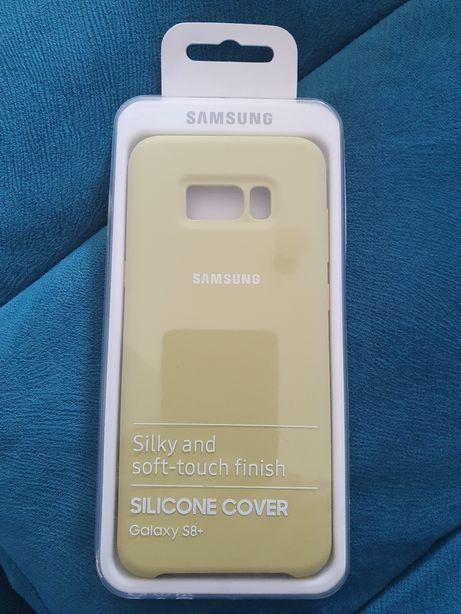 Husa NOUĂ originala Samsung silicone cover S8+ green