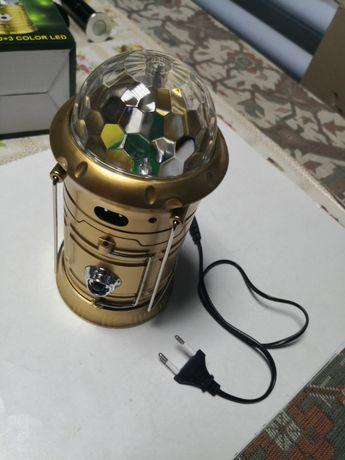 Felinar + lanterna cu glob magic cu acumulator
