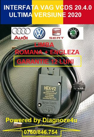 Interfata VCDS Vag Com 20.12 HEX V2 Engleza + Romana, Best Quality !