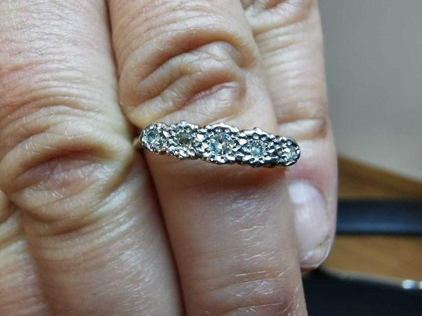 REDUS Inel aur 18 k, platină și diamante