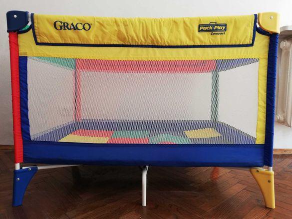 Продавам сгъваемо детско легло/кошара с матрак