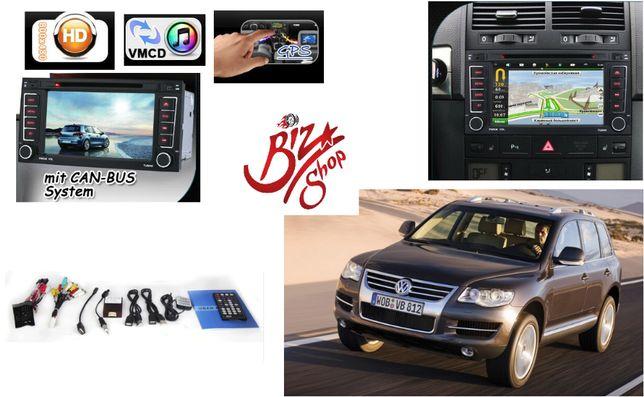 Navigatie GPS 3G Volkswagen Touareg 2003-2010 Mp3 DivX DVD USB Bluetho