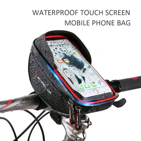 Husa geanta impermeabila smartphone pipa bicicleta suport ghidon 6inch