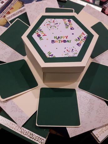 Explosion box hexagonal handmade