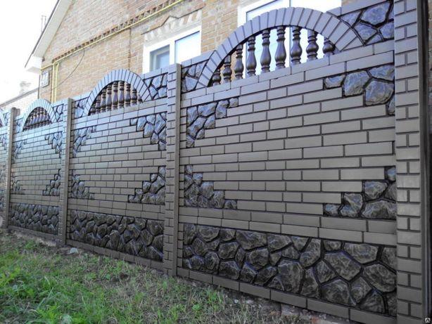 Gard prefabbricat din placi de beton gard cu fata dubla Giurgiu