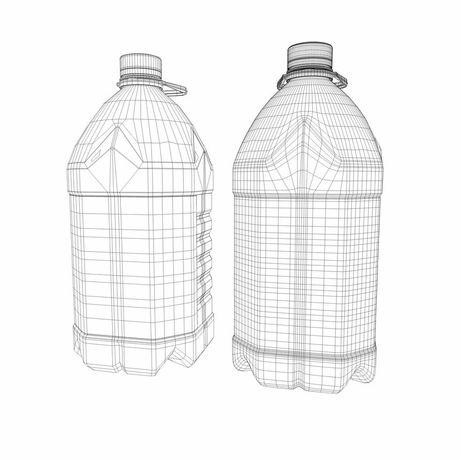 Пластиковая  бу бутылка, тара, баклажка 5л, 6л