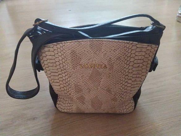 """Дамска кожена чанта """"LORETTA"""""""