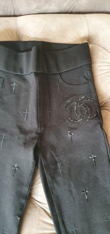 Colanți chanel, pantaloni de piele
