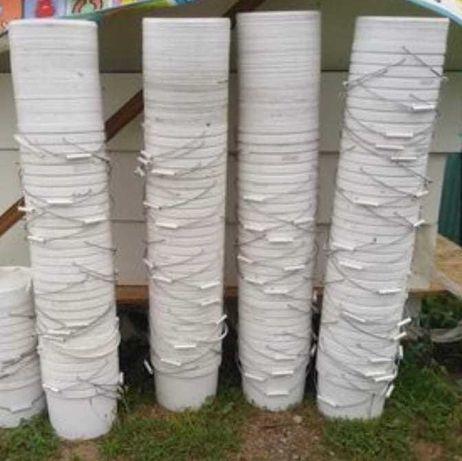 Чистые  Пластиковые пищевые ведра с крышками ( 11 и 21 литров)